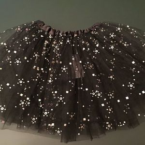 Other - New black tutu with silver sparkles